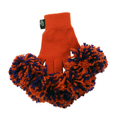Orange & Purple Spirit Fingerz Cheerleading Pom-Pom Gloves