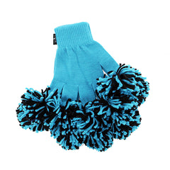 Panther Blue & Black Spirit Fingerz Cheerleading Pom-Pom Gloves