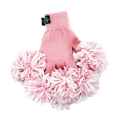 Pink & White Spirit Fingerz Cheerleading Pom-Pom Gloves
