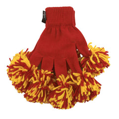 Red & Gold Spirit Fingerz Cheerleading Pom-Pom Gloves