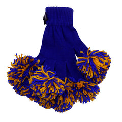 Royal & Gold Spirit Fingerz Cheerleading Pom-Pom Gloves
