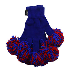 Royal & Red Spirit Fingerz Cheerleading Pom-Pom Gloves