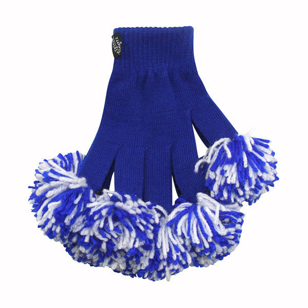 Royal & White Spirit Fingerz Cheerleading Pom-Pom Gloves
