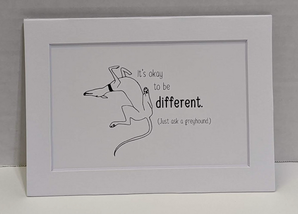 Print-Ok To Be Different - Mat Board Saying (5x7)
