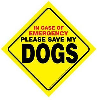 SAVE MY DOGS (PLURAL) SIGN