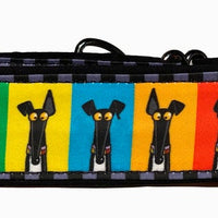 "Collar-Martingale Richard Skipworth ""Greyhound Ears"" black and multi-color - 2"""