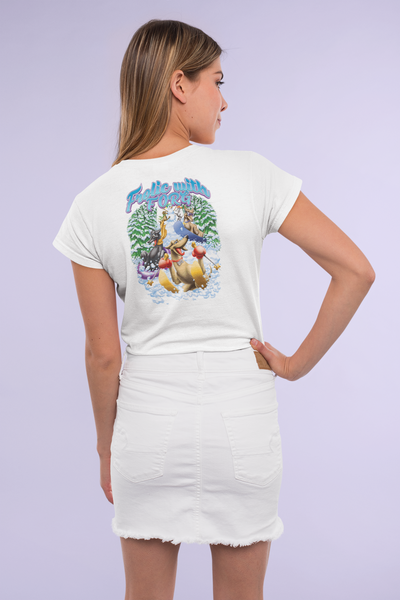 Shirt-T-Shirt: Winter Frolic With Greyhounds