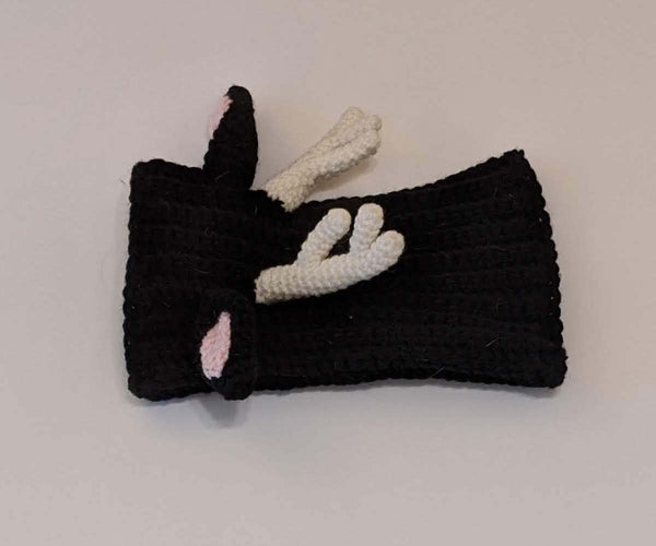 Hat-Reindeer Hat for Greyhounds (Black)