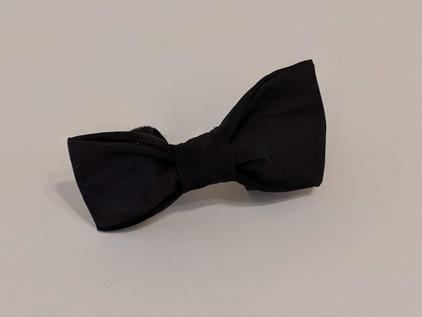 Removable Collar Bowtie - (Black)