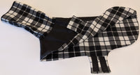 Coat for Greyhounds - Plaid (Black and White)
