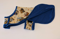 Coat for Greyhounds - Puppy pattern (Beige, Blue)