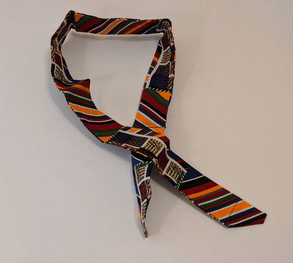 Cooler Bandana - Earth Tone Stripes (Orange, Burgundy, Blue, Green, Black)