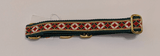 Collar-Martingale Collar for Greyhounds -  Diamond Circle Pattern (Green, Red, White, and Gold)