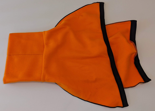 Snoodle-Polar Fleece Snoodle for Greyhounds - Solid Orange