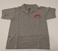 Shirt-Polo Shirt - FORG Logo (Grey and Red)