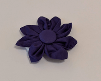 Removable Collar Flower - (Purple)