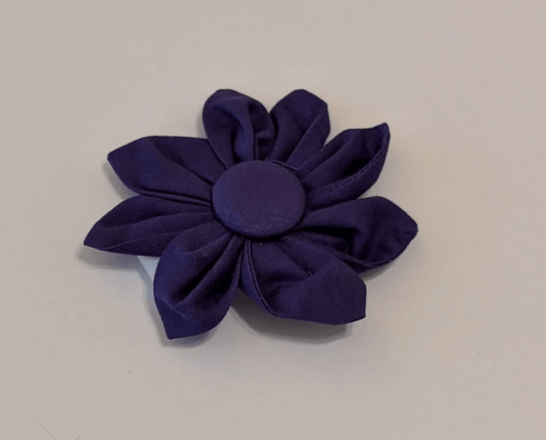Collar-Removable Collar Flower - (Purple)