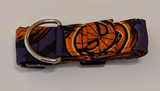 Collar-Martingale Collar for Greyhounds - Pumpkin Marvel (Purple and Orange)