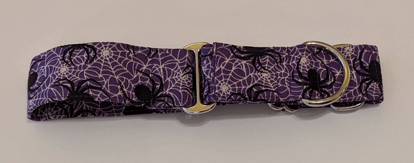 Martingale Collar for Greyhounds - Spider Web (Purple)