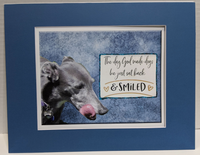 Print-The Day God Made Dogs - Mat Board  - (11x14)