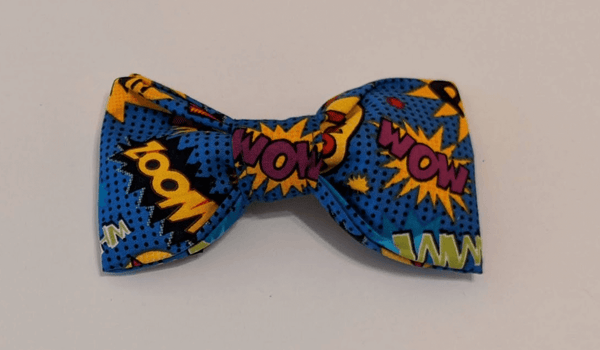 Removable Collar Bowtie - Comic Book (Blue)