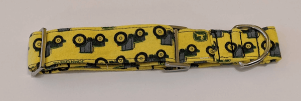 Collar-Martingale Collar for Greyhounds - Tractor (Yellow and Green)