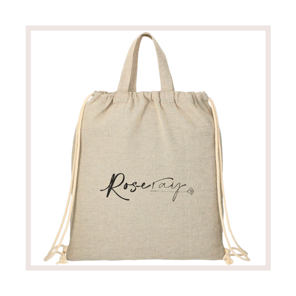 FREE 100% Recycled Cotton Bag with your first order!