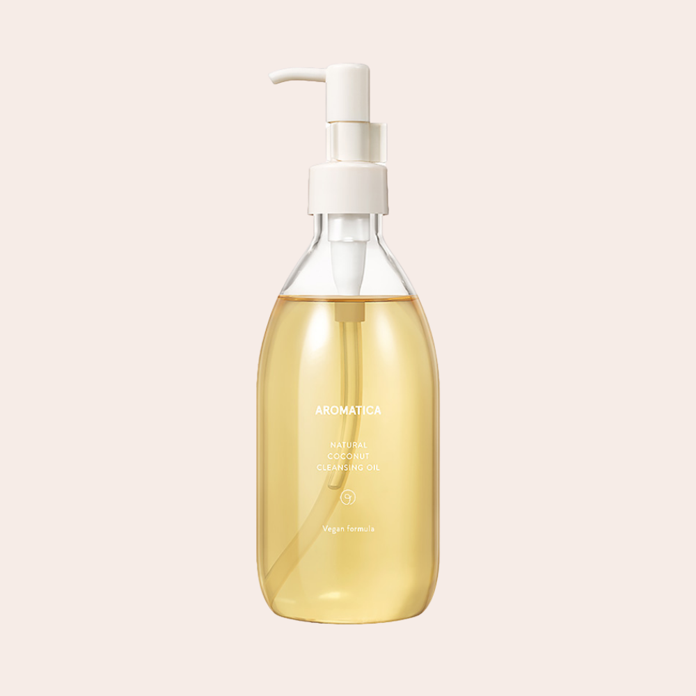 Golden Aromatica Natural Coconut Cleansing Oil in bottle