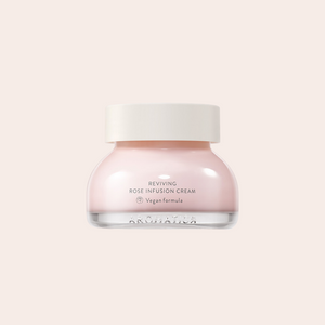 pink rose colored Aromatica Rose Infusion Cream in glass jar