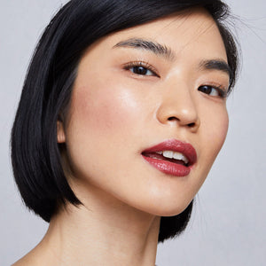 Yulip angry rose lipstick on asian model