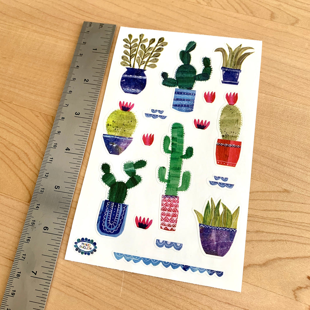 Collaged Cactus