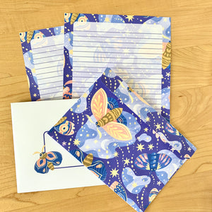 Starry Moth Stationery