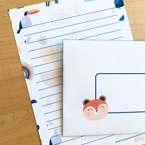 Animal Rainbow Stationery