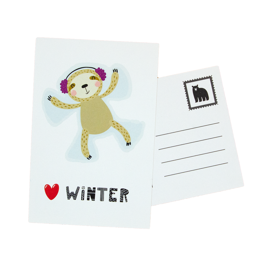 Love Winter Postcards