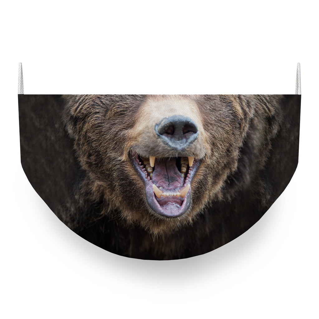Brown Bear Face Covering