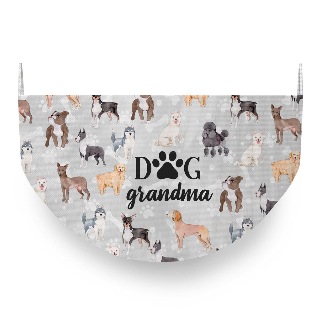 Dog Grandma Face Covering