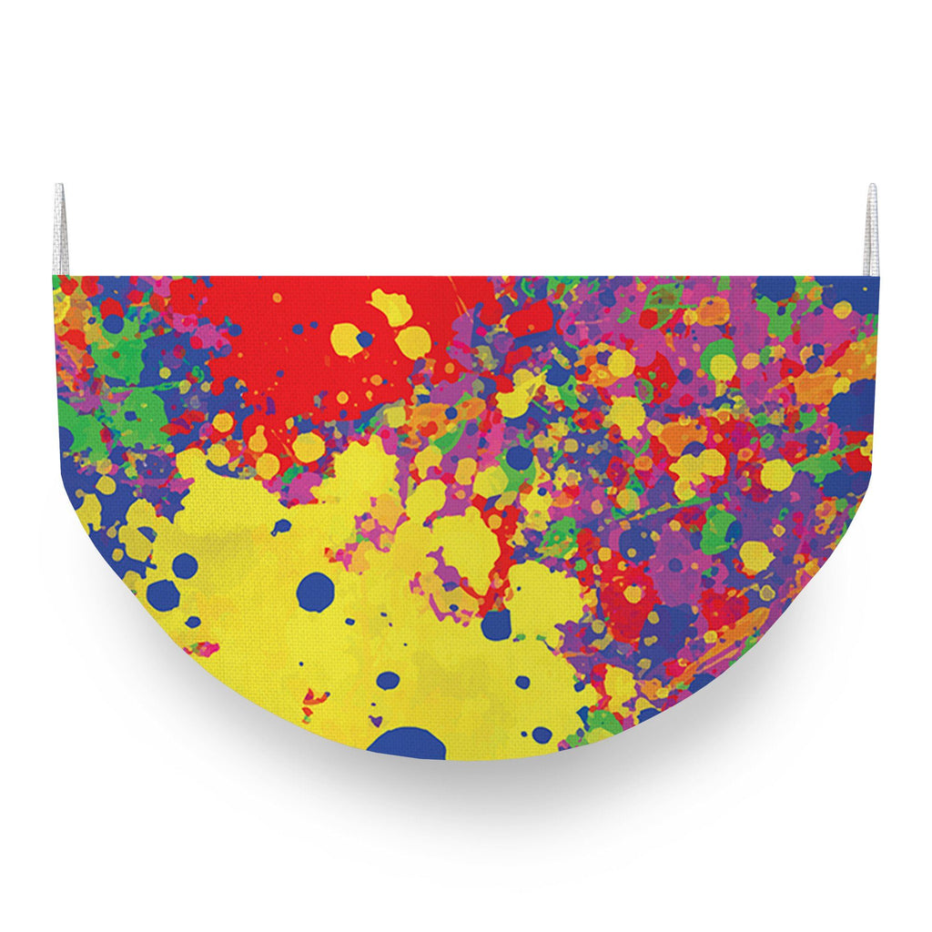 Paint Splatter Fabric Mask