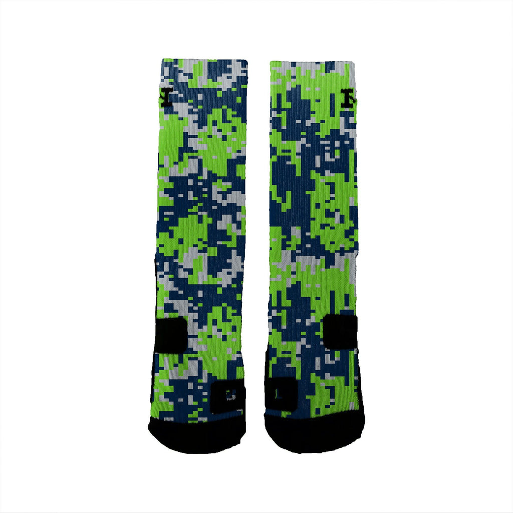 seattle digital camo custom nike elite socks hoopswagg rh hoopswagg com Just Do It Nike Logo Nike Army Logo