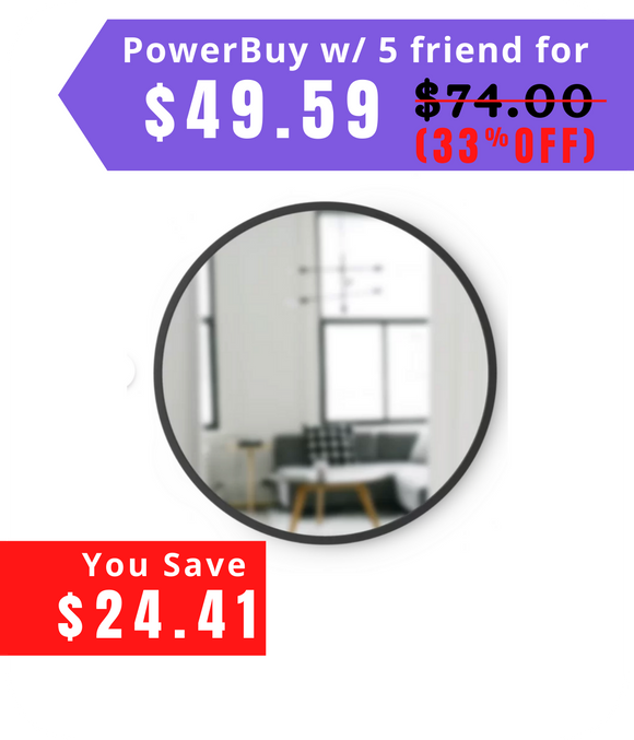 Hub Round Modern & Contemporary Accent Mirror