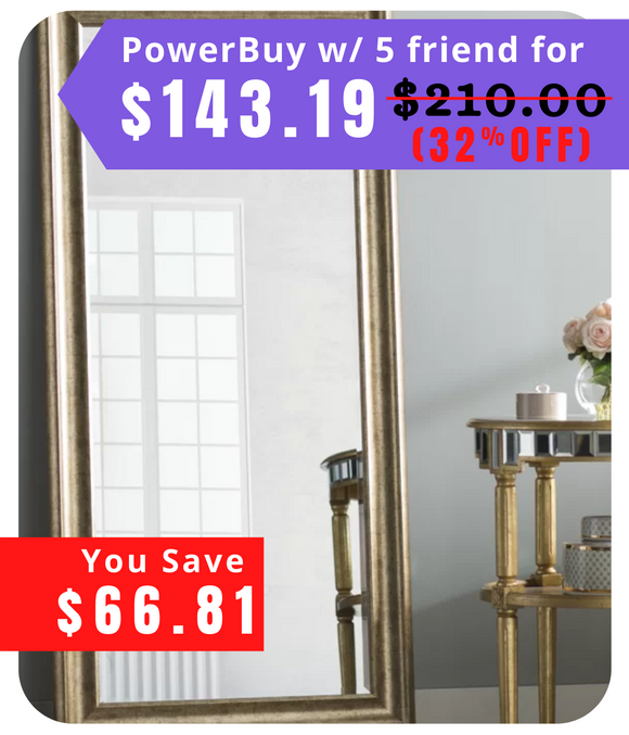 Jaylee Modern and Contemporary Beveled Full Length Mirror