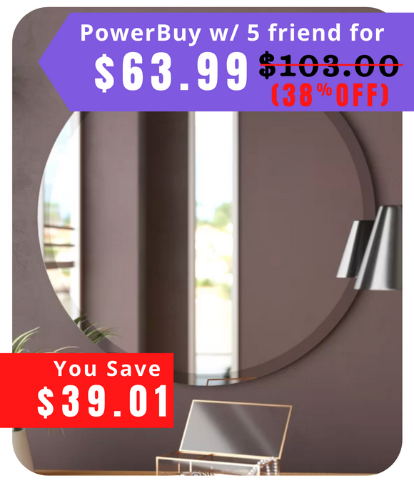 Valdosta Modern and Contemporary Beveled Frameless Bathroom / Vanity Mirror