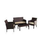 Tessio 4 Piece Rattan Sofa Seating Group with Cushions