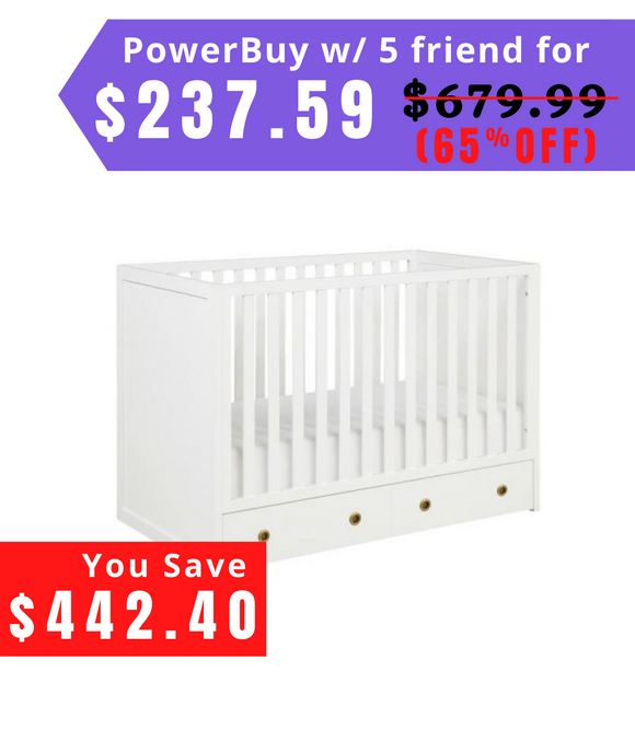 Rue 3-in-1 Convertible Crib with Storage