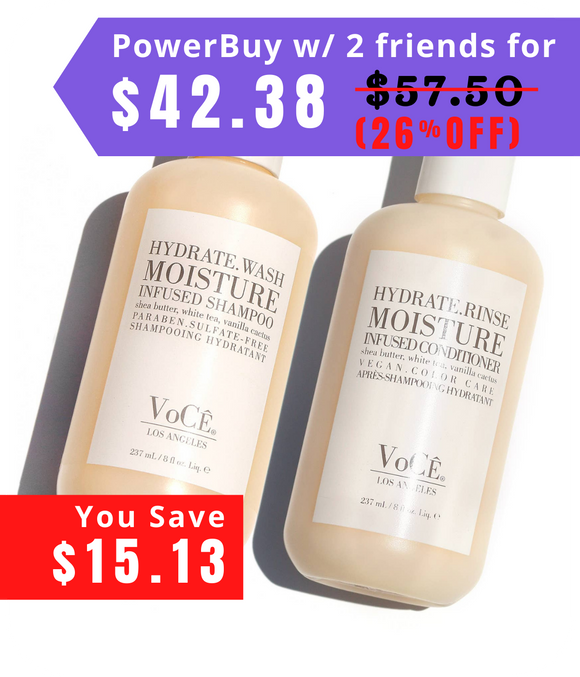 Hydrate.Wash 8 oz. Moisture Shampoo & Conditioner Set
