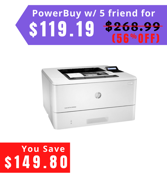 HP - LaserJet Pro M404n Black-and-White Laser Printer - White