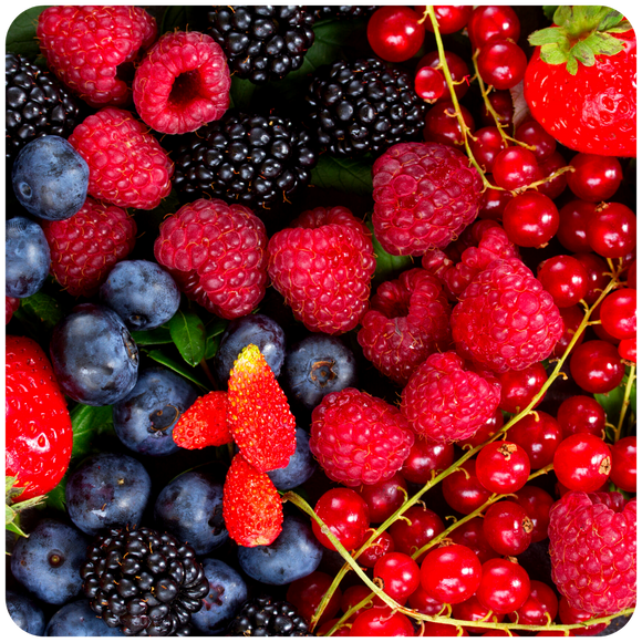 Organic Berry Mix- Raspberries, Blueberries, and Blackberries, 1 basket each