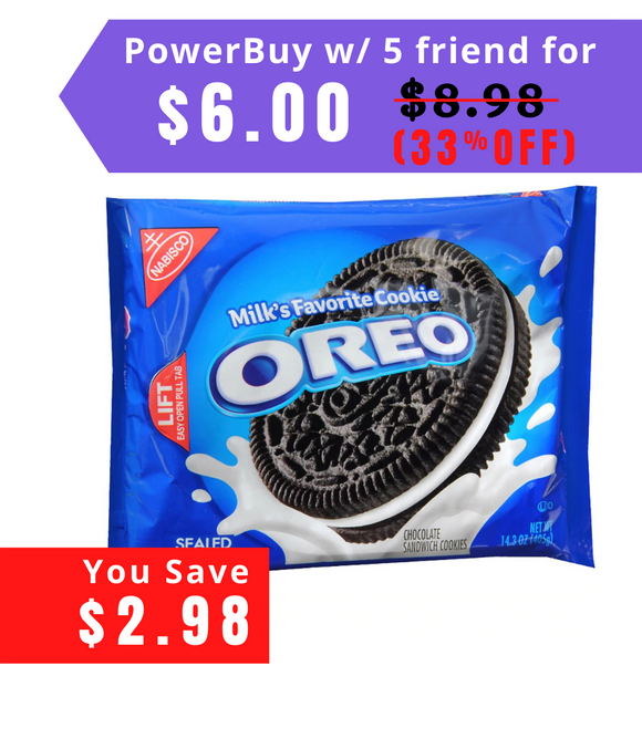 Oreo Creme Sandwich Cookies 14.3 oz (Pack of 2)