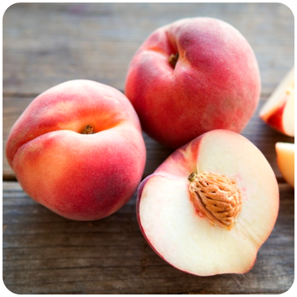 Organic White Peaches, 2 lbs