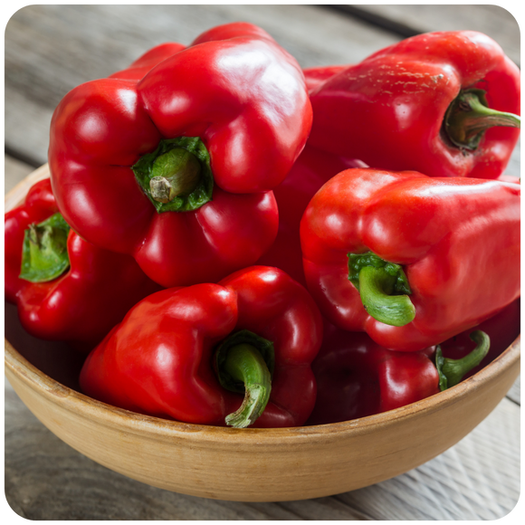 Organic Red Bell Peppers, 1.5 lbs