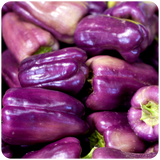 Organic Purple Bell Peppers, 1.5 lbs